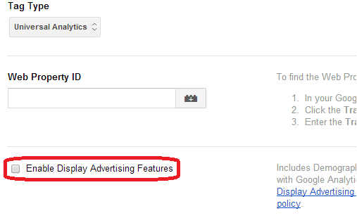enable-display-advertising-tag-manager